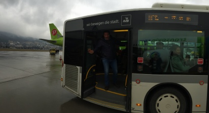 The bus that takes you 85 meters...