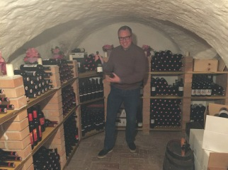 Ruud in his element... a secret grotto of wine